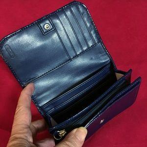 Coach Bags - SOLD! COACH ASHLEY Cobalt Blue Patent Wallet